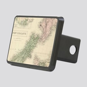 Vintage Map of New Zealand Rectangular Hitch Cover