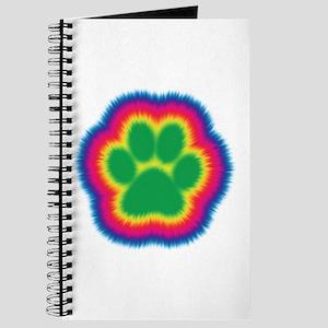 Tye Dye Paw Print Journal