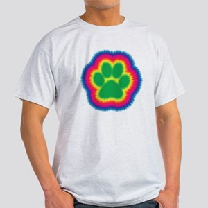 Tye Dye Paw Print Light T-Shirt