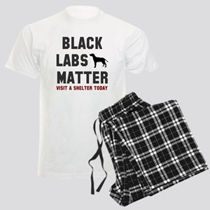 Black Labs Matter Men's Light Pajamas