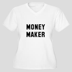 Money Spender Mon Women's Plus Size V-Neck T-Shirt