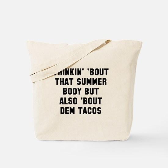 Summer body Tote Bag