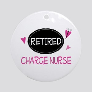 Retired Charge Nurse Ornament (Round)
