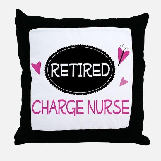 Retired Charge Nurse Throw Pillow