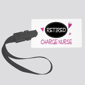 Retired Charge Nurse Large Luggage Tag