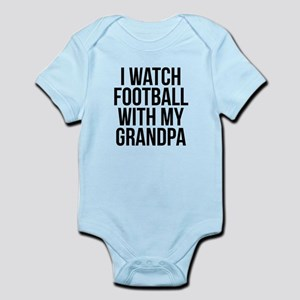 I Watch Football With My Grandpa Body Suit