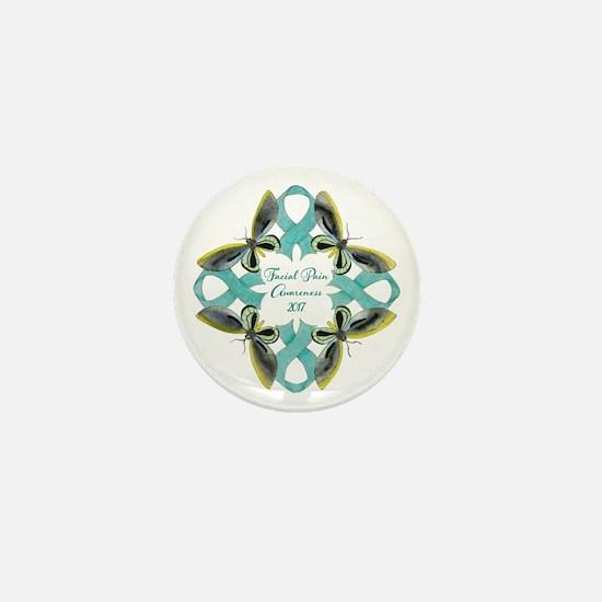 Facial Pain Awareness Christmas 2017 Mini Button