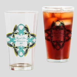 Facial Pain Awareness Christmas Drinking Glass