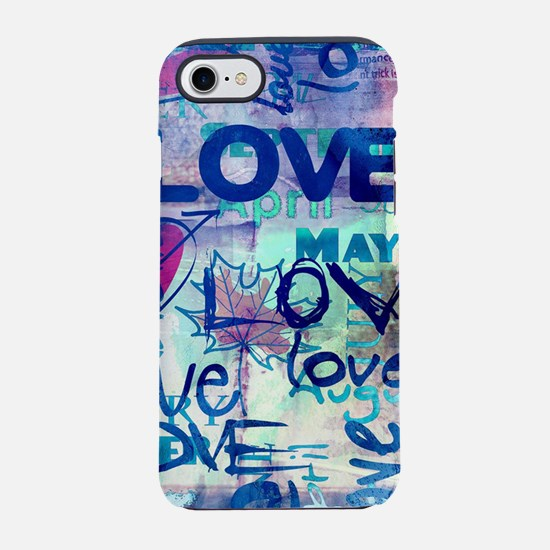 Abstract Love Painting iPhone 7 Tough Case