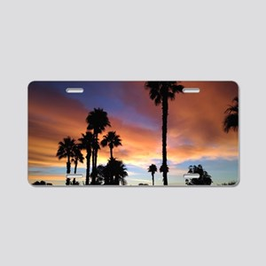 Palm Springs Sunset Aluminum License Plate