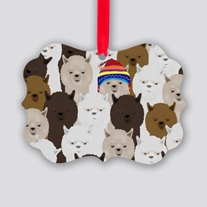 Alpaca Picture Ornament