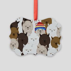 Alpaca Picture Ornament