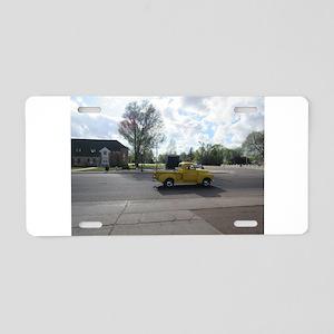 Antique Yellow Truck Aluminum License Plate