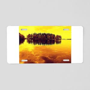 Golden Sunset Aluminum License Plate
