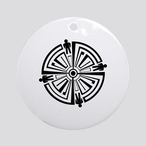 Haven Guard Tattoo Round Ornament