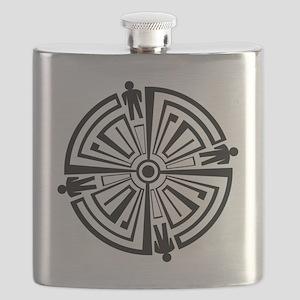 Haven Guard Tattoo Flask
