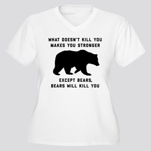 Bears Will Kill Y Women's Plus Size V-Neck T-Shirt
