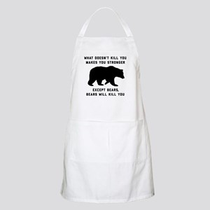 Bears Will Kill You Light Apron