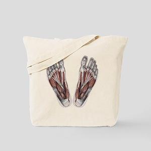 Vintage Human Anatomy Feet Tote Bag