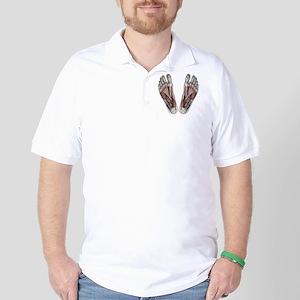 Vintage Human Anatomy Feet Golf Shirt