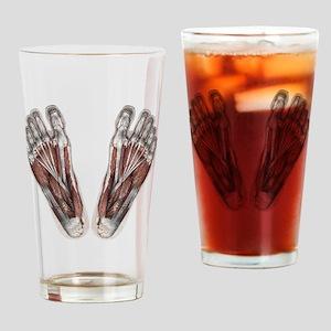 Vintage Human Anatomy Feet Drinking Glass