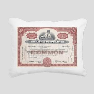 Lionel 1940s Rectangular Canvas Pillow