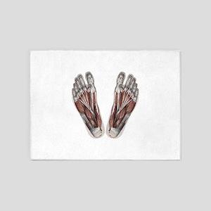 Vintage Human Anatomy Feet 5'x7'Area Rug