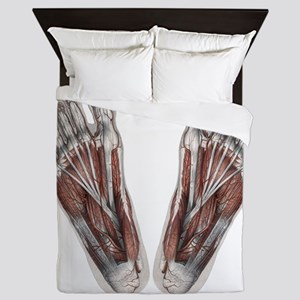 Vintage Human Anatomy Feet Queen Duvet
