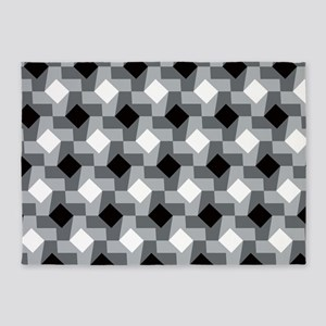 Blurry Houndstooth 5'x7'Area Rug