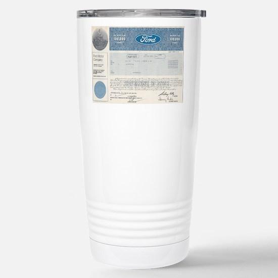 Ford Stock Stainless Steel Travel Mug