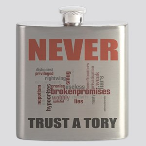 Never Trust a Tory (words) Flask