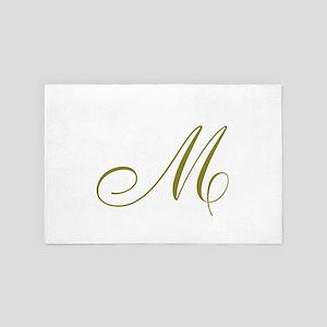 Elegant Monogram 4' x 6' Rug