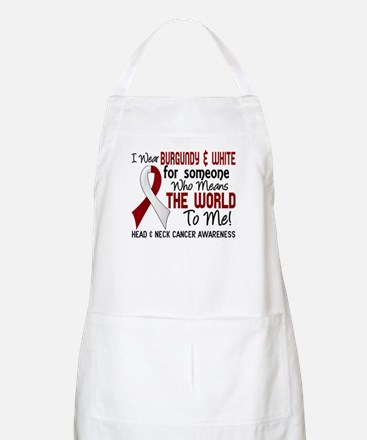 Head Neck Cancer MeansWorldToMe2 Apron