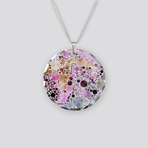 mod circles pattern Necklace Circle Charm
