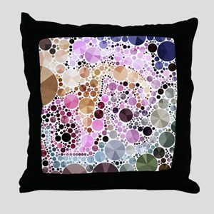 mod circles pattern Throw Pillow