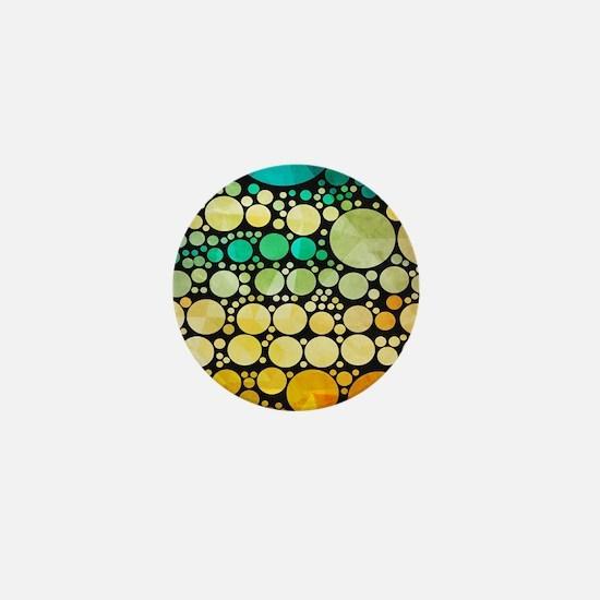mod circles pattern Mini Button