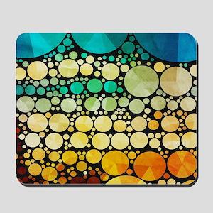 mod circles pattern Mousepad
