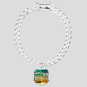 mod circles pattern Charm Bracelet, One Charm