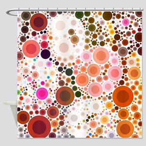 mod circles pattern Shower Curtain