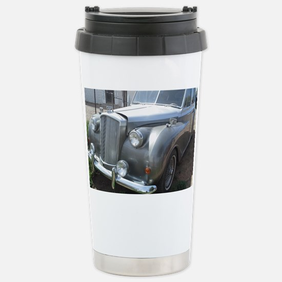 A Silver Car. Stainless Steel Travel Mug