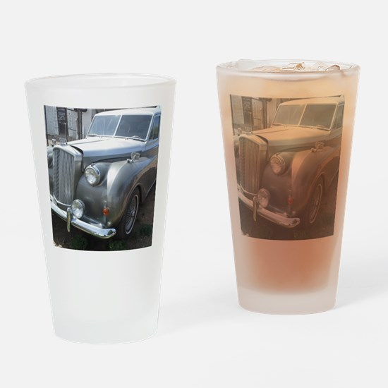 A Silver Car. Drinking Glass