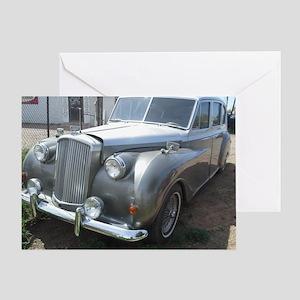 A Silver Car. Greeting Card