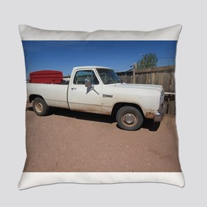 Antique White Truck Everyday Pillow
