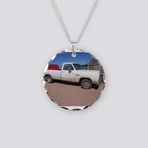 Antique White Truck Necklace