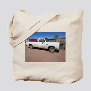 Antique White Truck Tote Bag