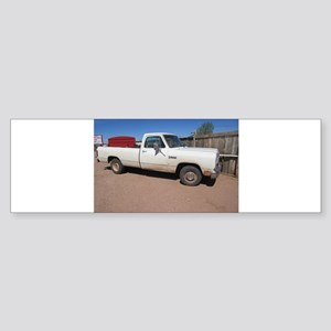 Antique White Truck Bumper Sticker