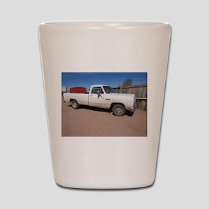 Antique White Truck Shot Glass