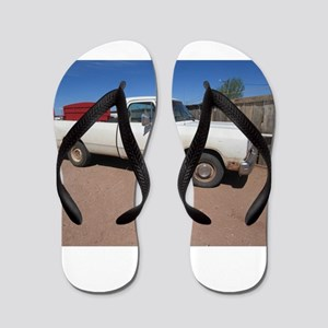 Antique White Truck Flip Flops