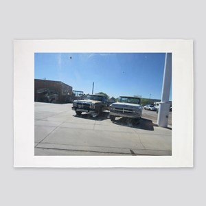 Old Trucks 5'x7'Area Rug