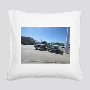 Old Trucks Square Canvas Pillow